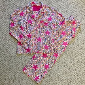 Victoria's Secret Rainbow Stars Flannel Pajamas S